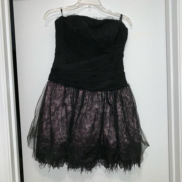 bebe Dresses & Skirts - Bebe black and light pink dress